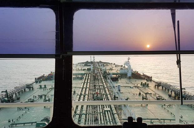 H θέα από τη Γέφυρα του πλοίου